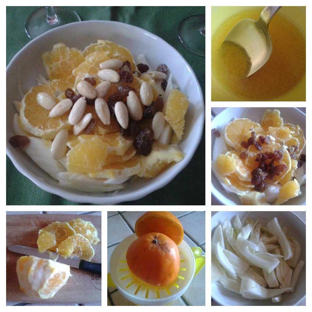 procedimento insalata finocchi arance