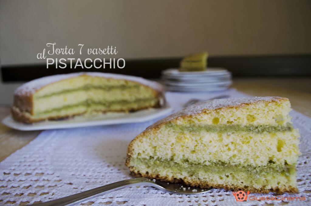 torta sette vasetti al pistacchio