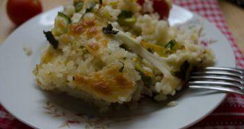 pasticcio di zucchine e pomodoro