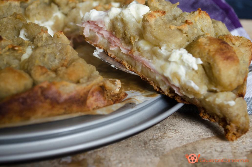 Sbriciolata di patate philadelphia e prosciutto cotto
