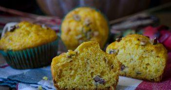 Muffin salati zucca pancetta nocciole