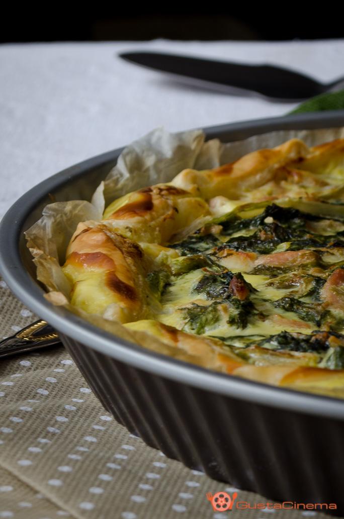 Torta salata scarola e tonno