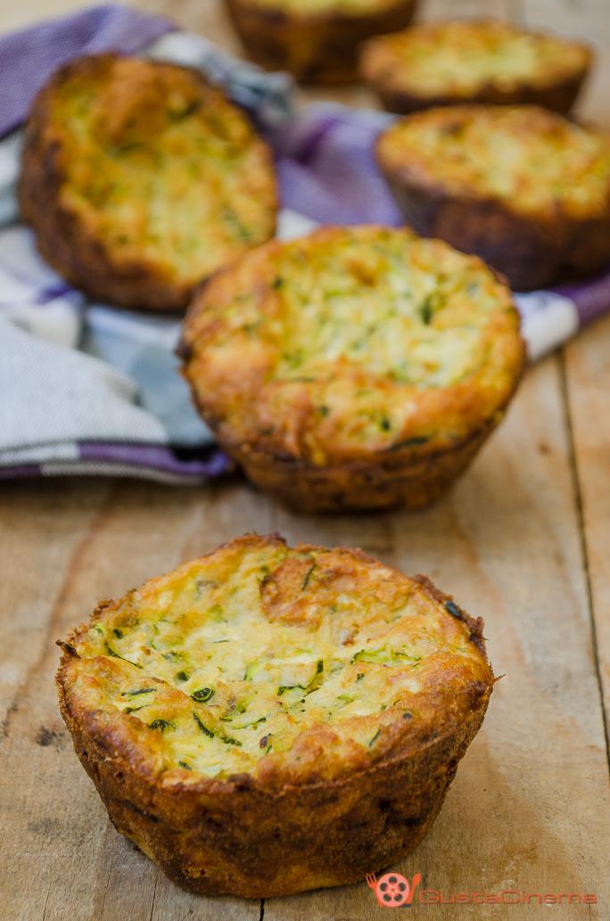 Frittatine al forno con zucchine e ricotta