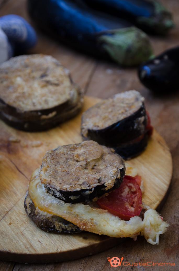 Melanzane al forno con provola e pomodori