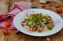 Cous Cous pomodorini zucchine e fiori di zucca