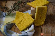 Focaccia farina di mais senza lievito