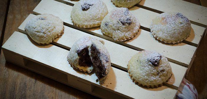 Ravioli dolci con ripieno di castagne al forno