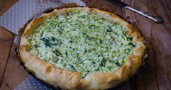 Torta salata con ricotta e broccoli