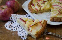 Crostata morbida alle mele con crema pasticera