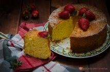 Chiffon cake al cocco limone e fragole