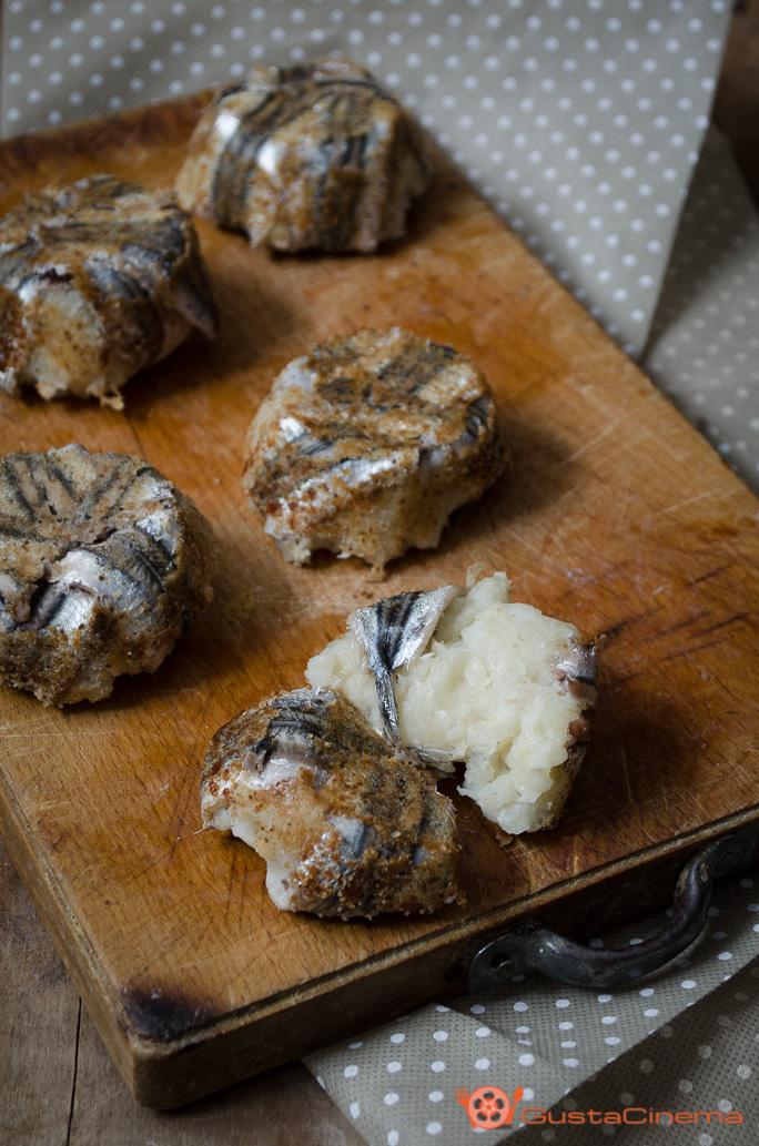 Tortini di alici e patate