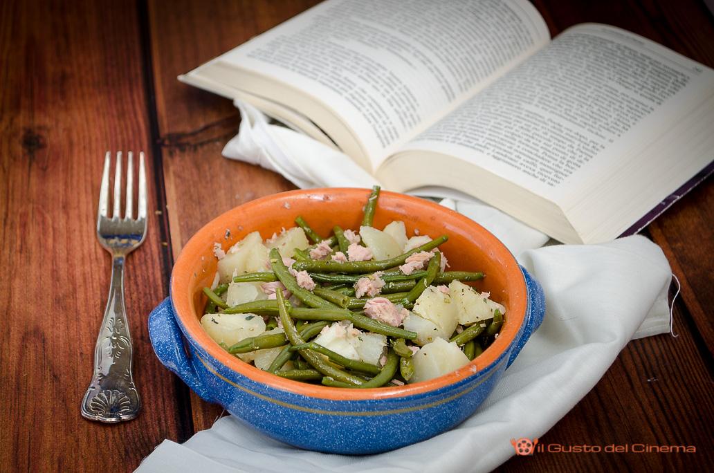 insalata con fagiolini patate e tonno