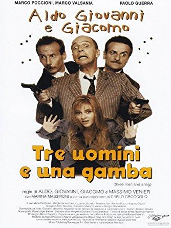 Tre uomini e una gamba - locandina
