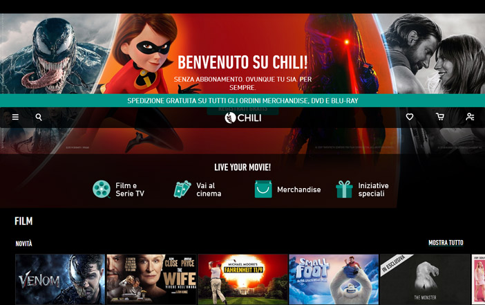 Serie tv e film preferiti online su Chili!