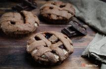 Crostatine al cacao con ricotta e amarene