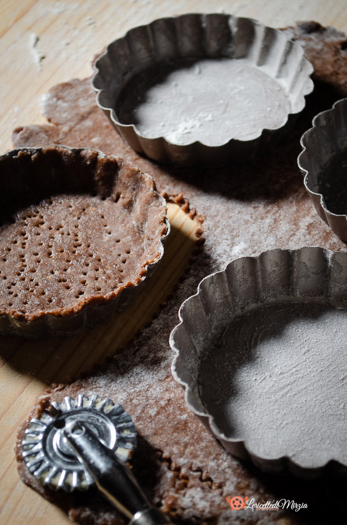 Crostatine al cacao procedimento