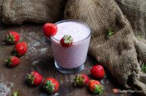 Frullato di fragole e yogurt greco