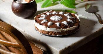 Torta fredda cocco e cioccolato
