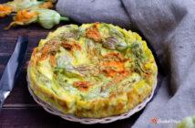 Frittata di ricotta e fiori di zucca al forno