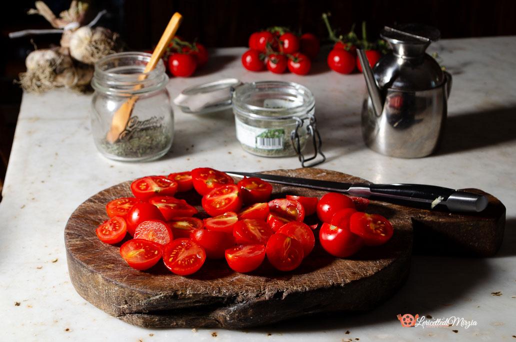 Pomodorini confit procedimento