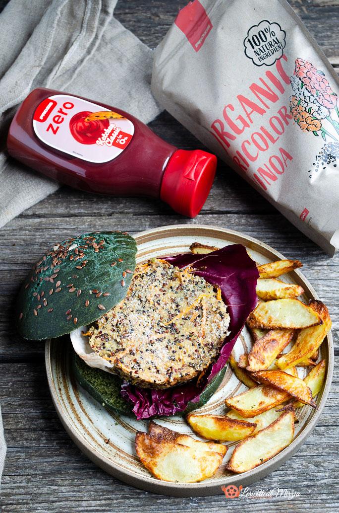 burger di quinoa e tonno